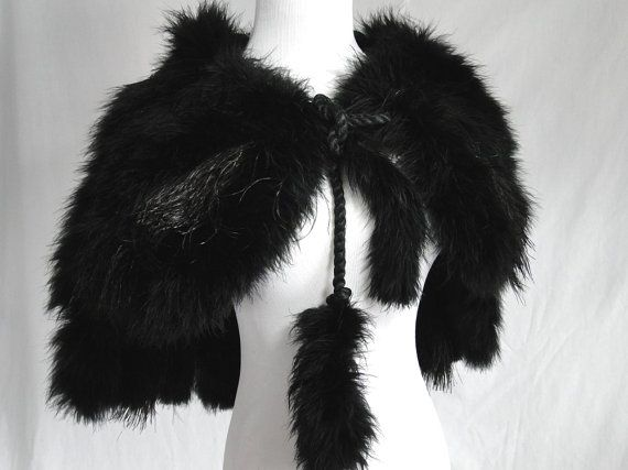 Antique cape VERY RARE marabou feather by vintageboxofdelights, $325.00  #VExplosion #Vintage #Fashion #Jewelry #Etsyretwt