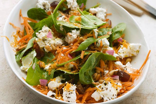 Spinach Salad with Feta