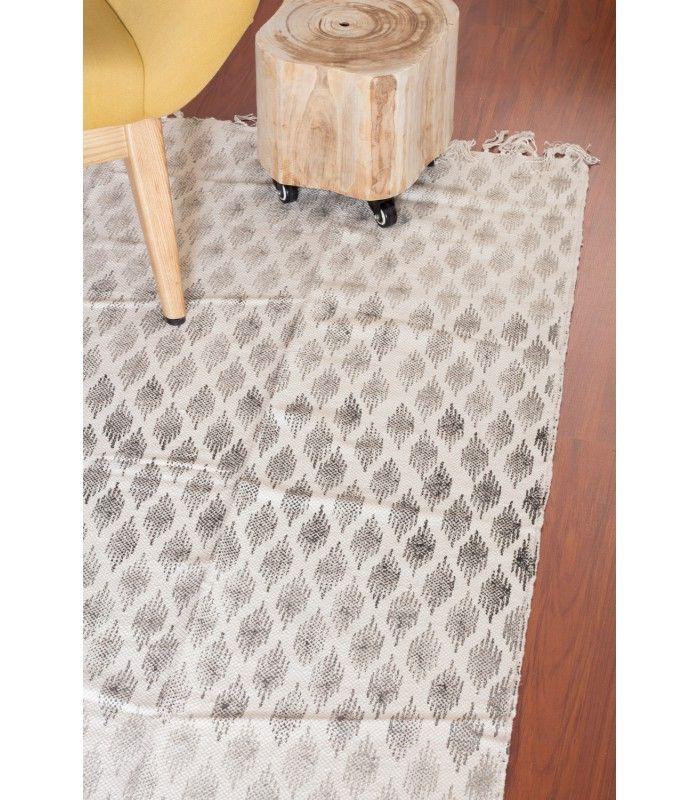 Alfombra de algodón estampada TOUBKAL en 2 formatos