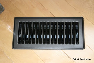 Full of Great Ideas: Spray Painted Vent Covers     Oil Rubbed Bronze - Would look good against light wood floors