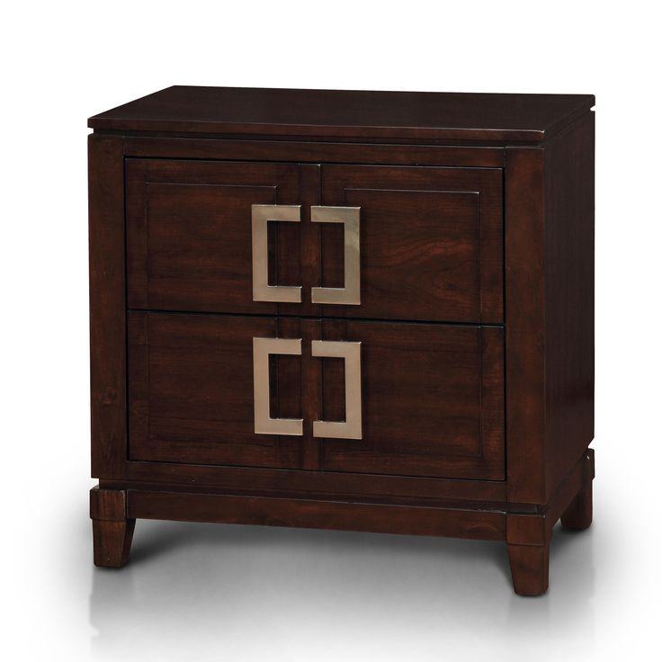Furniture of America Sovena Cherry Nightstand