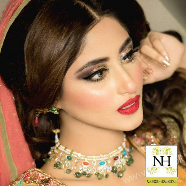 Sajal Ali Exclusive Bridal Beauty Shoot Nadia Hussain Salon