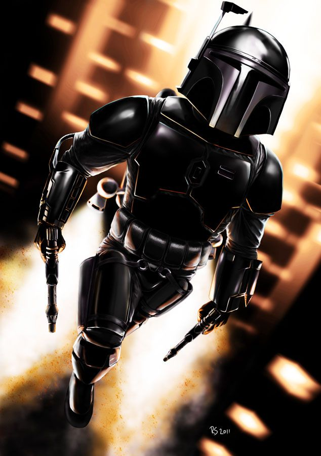 Jango Fett - Stealth Mode by rhymesyndicate.deviantart.com on @deviantART