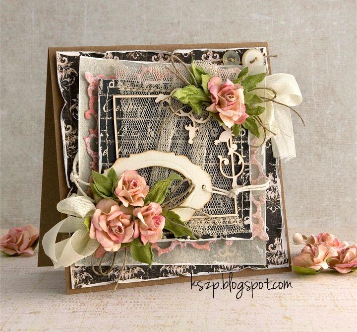 Witajcie :)  Wszystkie miłośniczki tiulu, koronek, wstążeczek, sznureczków i wszelkich innych tekstyliów na kartkach zapraszam na lutowe wyz...