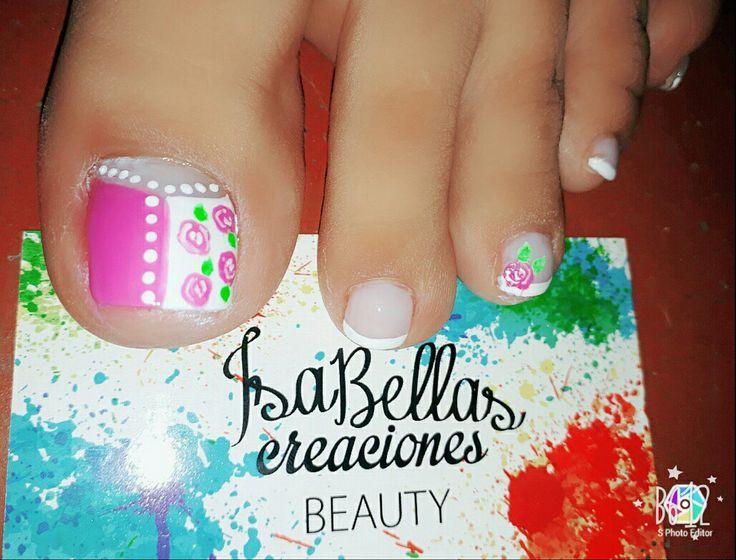 #arteconamor #uñaslindas #beauty #isabel #rosas #francés #nails #pies #masglo #colorcampeona #colorejecutiva