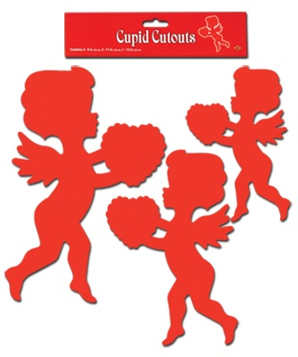 Cupid Cutouts Pack Of 6 9 13 Hearts Amp Cupid