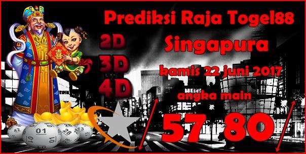 Prediksi Togel Singapura Kamis 22 Juni 2017