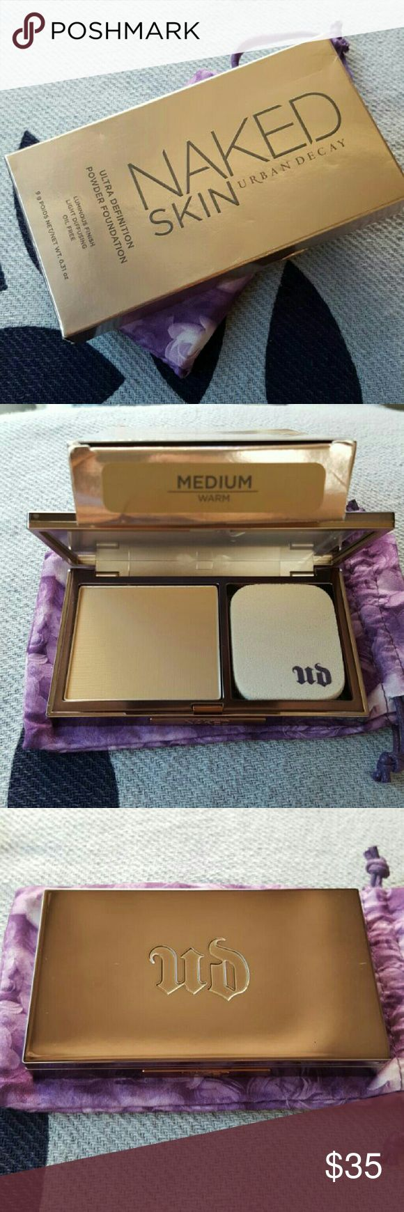 Urban Decay-Ultra Definition Powder Foundation NIB Brand New Urban Decay Naked Skin  (Ultra Definition Powder Foundation) ***Medium/Warm*** *NIB *Retails $36+ (Posh fees suck!) *Price is Firm Thank you and Happy Shopping!! (Cheaper on Merc js) (ShoeLuv84) Urban Decay Makeup Foundation