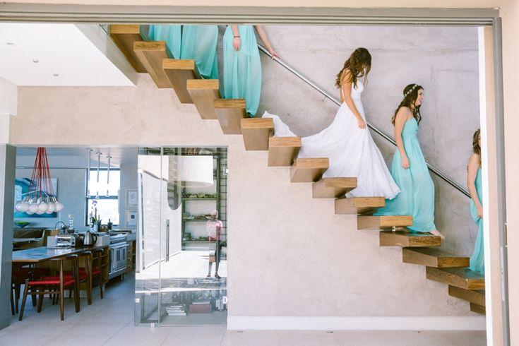 Bride & Bridesmaids Dress: Julia Ferrandi Photo: Lad & Lass