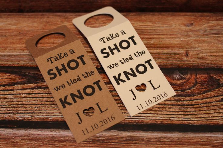 Personalised ALCOHOL Wedding Favour miniature bottle tags We tied the knot in Home, Furniture & DIY, Wedding Supplies, Wedding Favours | eBay