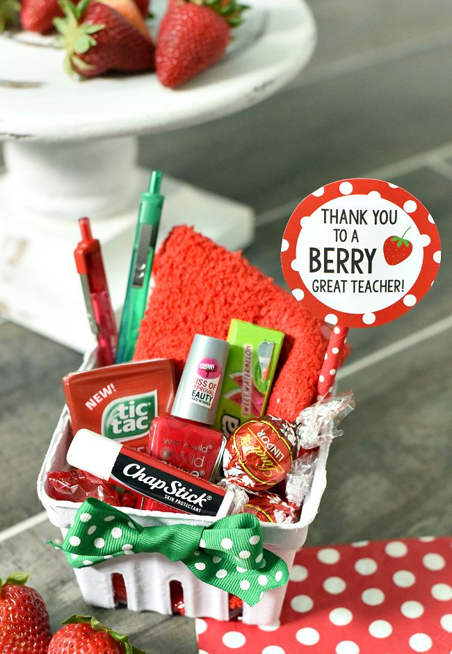 Berry gift idea for friends or teachers appreciation Gifts to show appreciation to friend