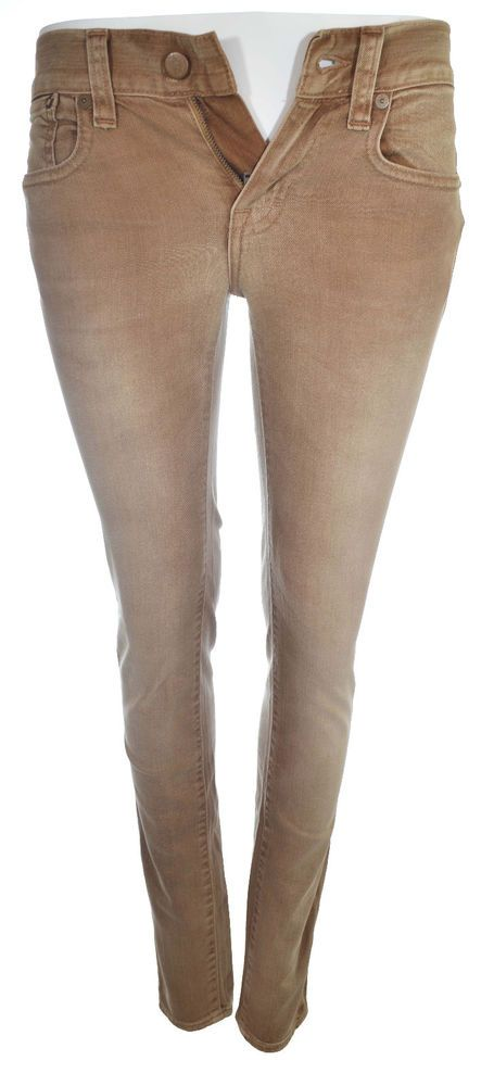 Ralph Lauren Womens Brown Jeans Size 26 888 Blue Label NWT $225 #RalphLauren #SlimSkinny