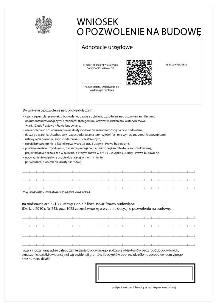 Redesign pozwolenie na budowe DTP