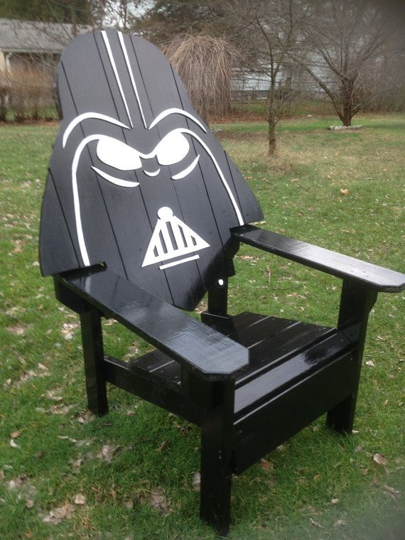 Darth Vader Adirondack Chair Painted Version Star Wars