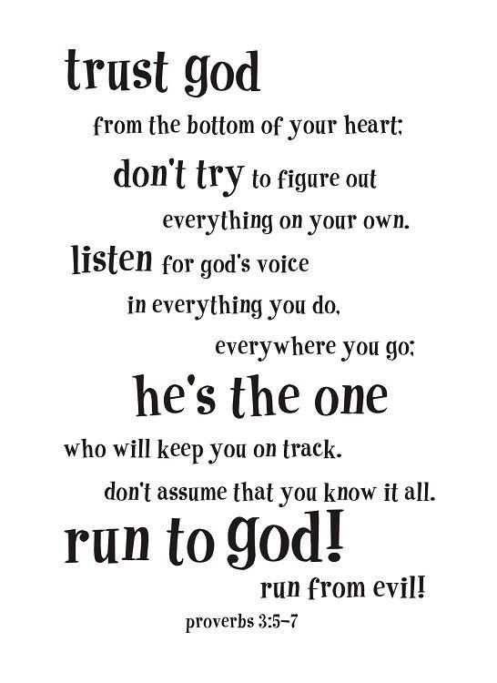 Proverbs 3:5-7~<3
