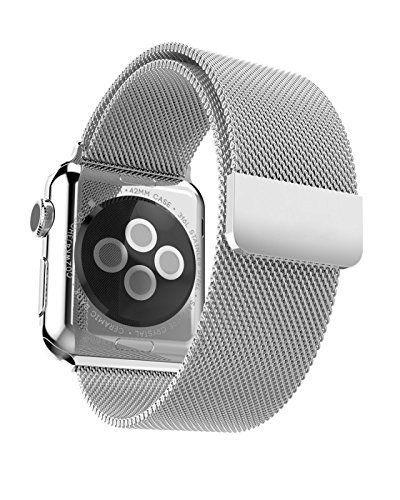 Arktis Apple Watch 42 mm Magnetic Milanaise Armband - Silber - http://on-line-kaufen.de/arktis-4/arktis-apple-watch-42-mm-magnetic-milanaise