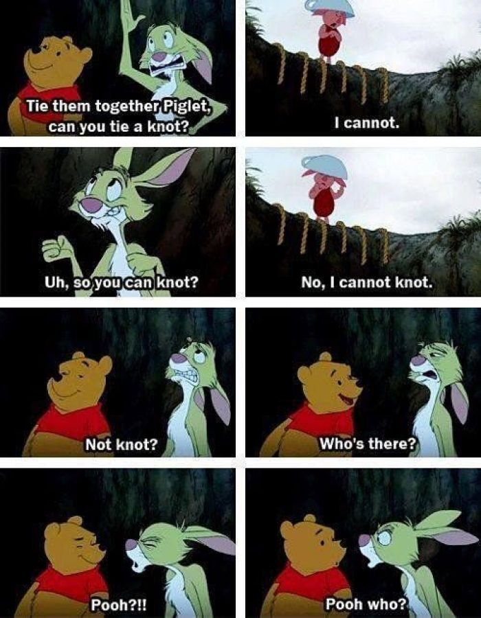 I feel like I'm pooh 40% of the time piglet 50% and rabbit 10%