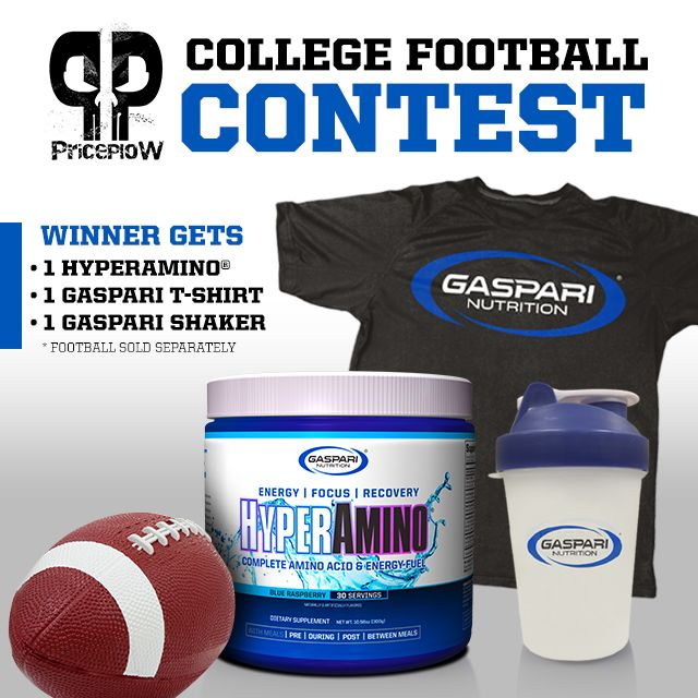 Football Pick'em CONTEST: Win a Tub of Gaspari HYPER AMINO! https://blog.priceplow.com/contests/hyper-amino  The catch? You gotta pick the winner of the Ohio State vs. Wisconsin game in order to be eligible! Who's it gonna be?!  Been too long since we ran one of these, so Official Gaspari Nutrition® stepped up to the plate. Thanks Rich Gaspari Fan Page! #OSUvsWISC #GaspariNutrition #HyperAmino #Contest