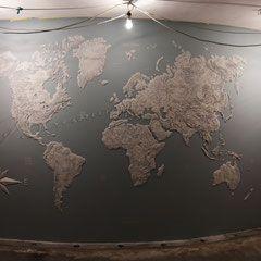 """""""Карта мира"""" - рельефное панно на стене - Ольга Вольгштейн"""