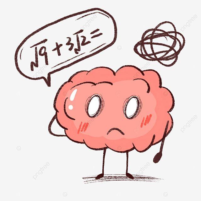 Cerebro De Dibujos Animados Pensando En Confusion Con Problemas Matematicos Pensamiento Grafico Personaje Animado Personaje Png Y Psd Para Descargar Gratis Cartoon Brain Cute Notes Brain Math