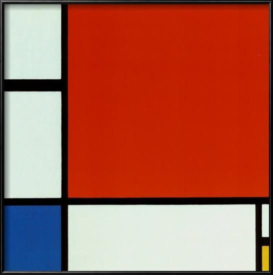 Composition with Red Blue Yellow Framed Art Print by Piet Mondrian at Art.co.uk