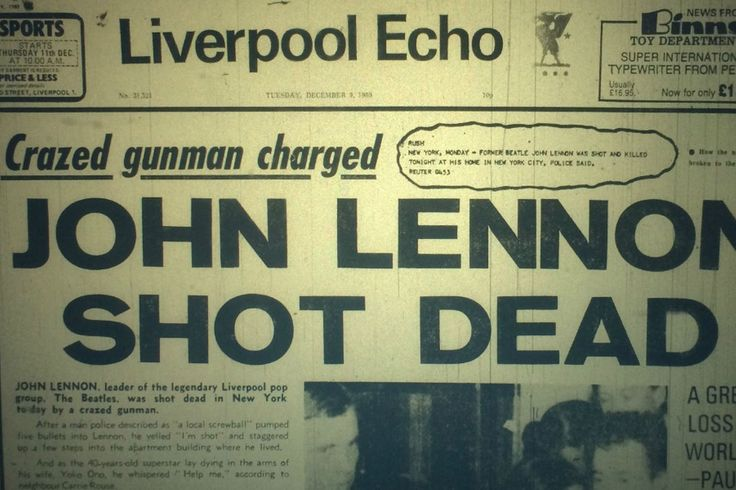 'John Lennon shot dead' was the Liverpool ECHO headline Merseysiders woke up to on the morning on December 9, 1980