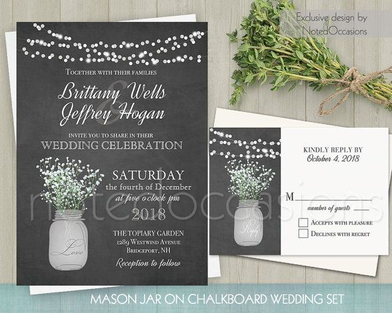 The 25+ best Chalkboard wedding invitations ideas on Pinterest - chalk board invitation template