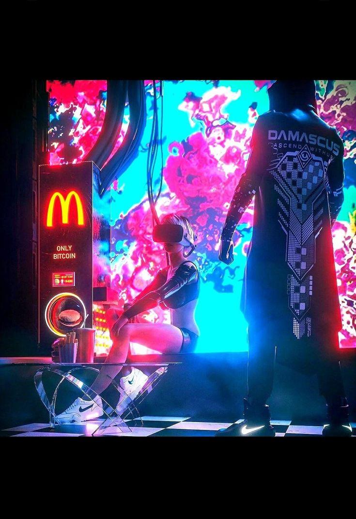 Bitcoin cyberpunk music art cyberpunk aesthetic