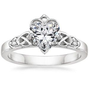 18K White Gold Celtic Claddagh Ring, top view This site has a ton of celtic inspired rings... Just saying. Right up your alley.
