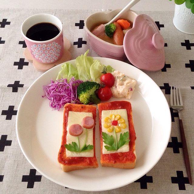 真似っこしたい♡インスタで人気の「お花トースト」 - curet [キュレット] まとめ