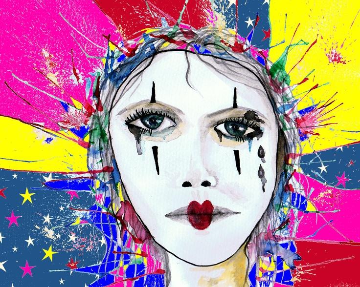 Original art design By Rebecca Barker  watercolour with paint shop pro edit