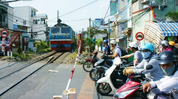 Hanoi to Saigon: This is a journey through the two different Vietnams, and one that runs along coastal rails through Hue, Danang and Nha Trang, before arriving in Saigon (pictured) two nights after departure. This has to be the best way to get around Vietnam; though really, any form of transport that gets you off the road is good.