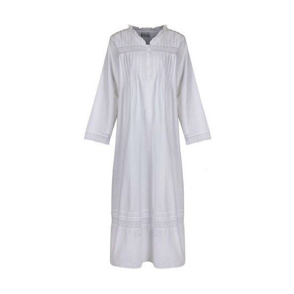 100 Cotton Nightdress - Annabelle ($40) ❤ liked on Polyvore featuring intimates, sleepwear, nightgowns, victorian nightgown, long sleeve cotton nightgown, cotton nightgowns, cotton sleep wear and cotton nightie