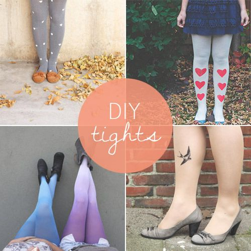 Awesome ideas for DIY tights from Babble.com