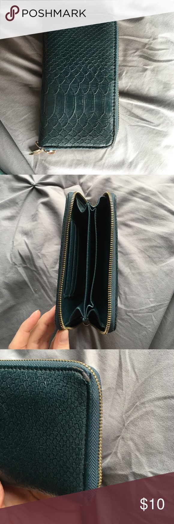 Target brand wallet! Teal wallet from target, almost perfect condition! Target Bags Clutches & Wristlets