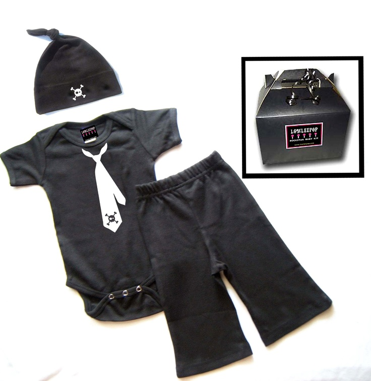 Cute little boy outfit with skulls