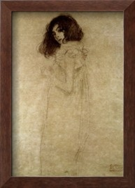 I will never get sick of this, or stop wanting it. Klimt's Young Woman, 1896-97.