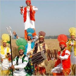 Baisakhi festival celebrated with songs and dances.