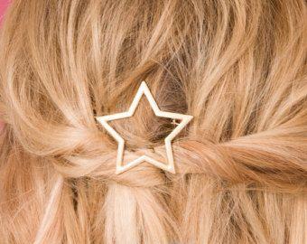Star Hair Accessory, Star Hair Clip, Metal Hair Clip, Geometric Hair Clip, Stylish Hair Clip, Party Hair Clip, Cute Hair Clip, Boho Hair