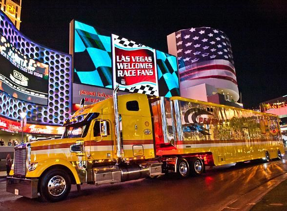 NASCAR Hauler Parade to Thunder Up Las Vegas Strip on March 6