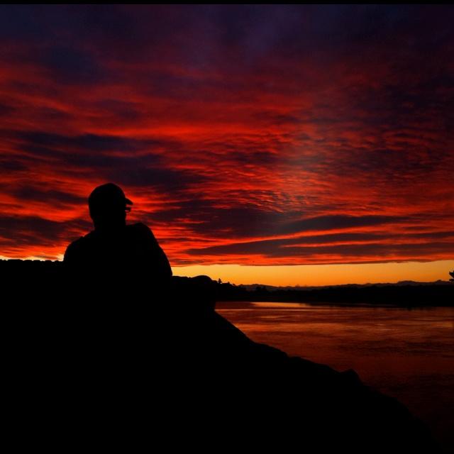 Sunset at sumner beach