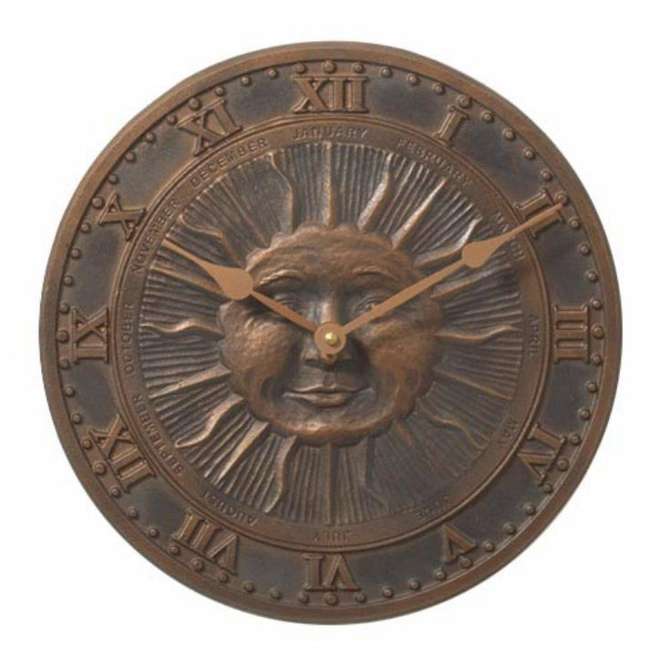 Sunface 12 in. Outdoor Wall Clock - 01588