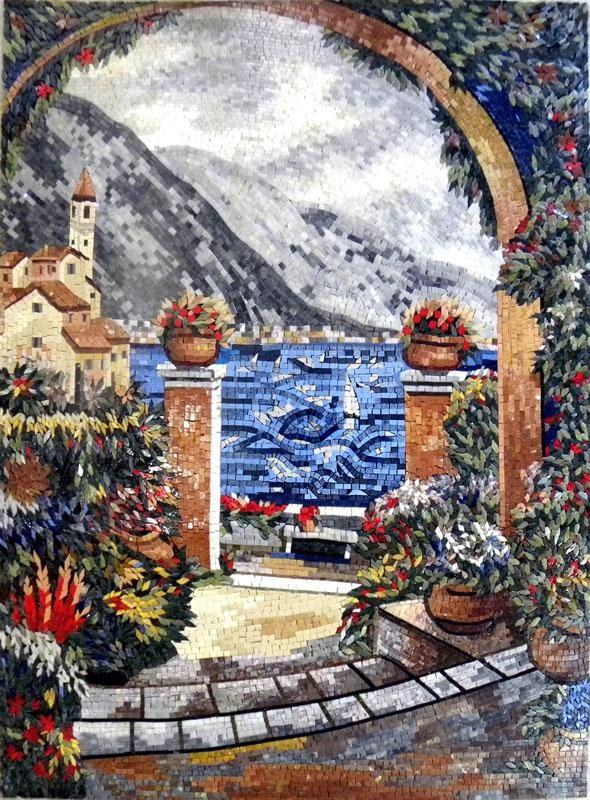 Natural Scene Mosaic Art