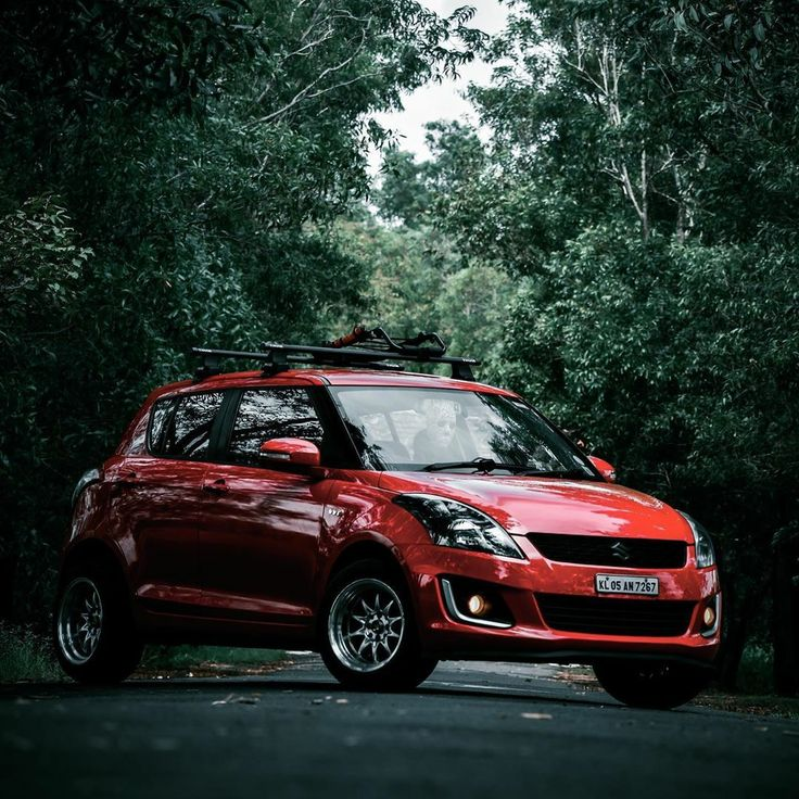 Modified red Maruti Swift in 2020 Modified cars, Best