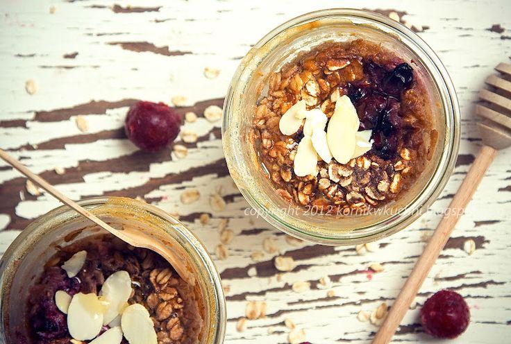 Pieczona owsianka z wiśniami | Kornik w kuchni