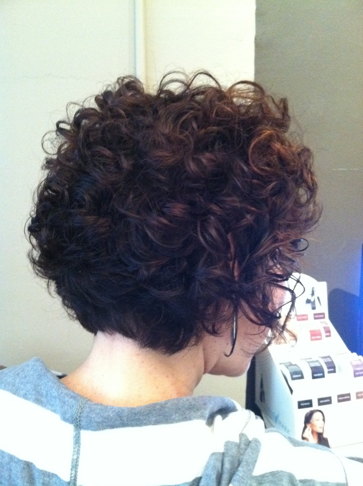 Short curly haircut