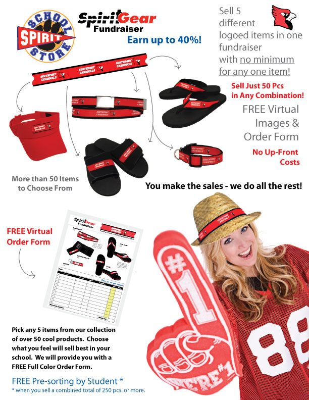 Mix and Match Pre-Sell Custom Fundraiser Program | School Spirit Store, School Booster Club Spirit Items, Custom Design School Spirit Products, School Pep Rally Products
