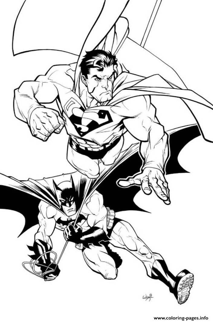 Superman Batman Drawing For Coloring