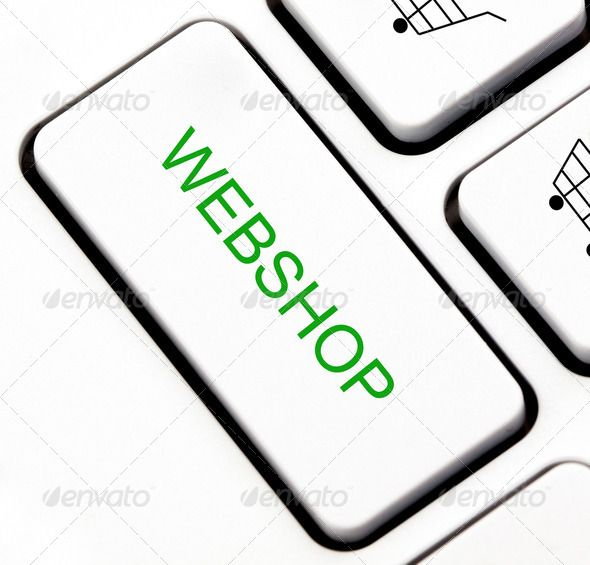 Webshop button on keyboard - Stock Photo - Images