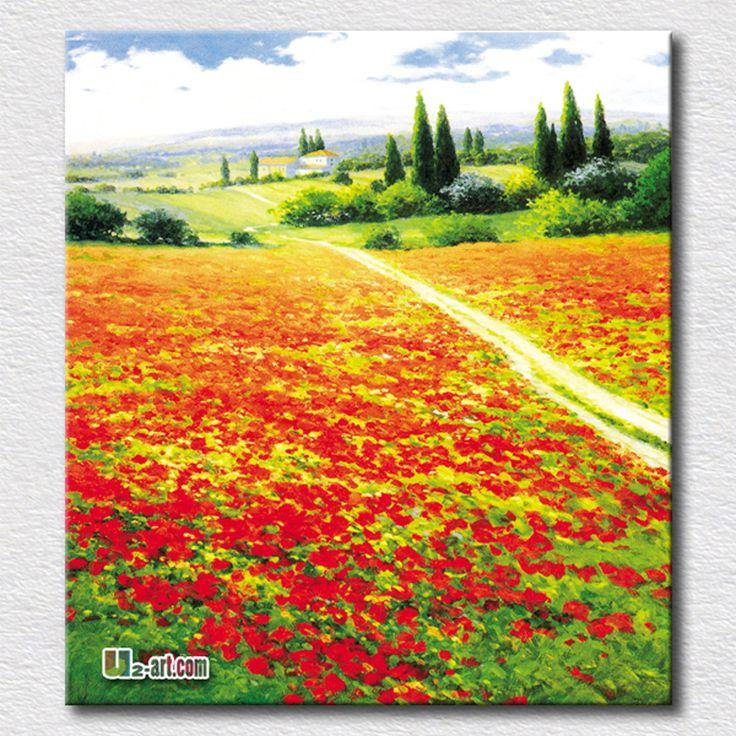 Красивый холст искусства красивый пейзаж живопись для гостиной мода украшения дома подарок